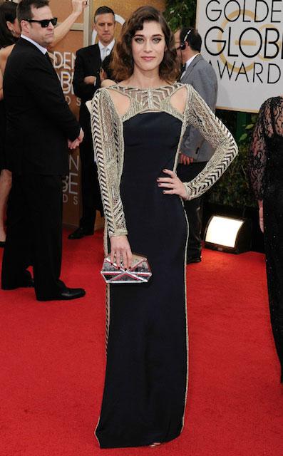 Lizzy Caplan during Golden Globe Awards 2014