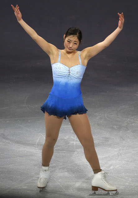 Mirai Nagasu during Sochi Winter Olympics 2014