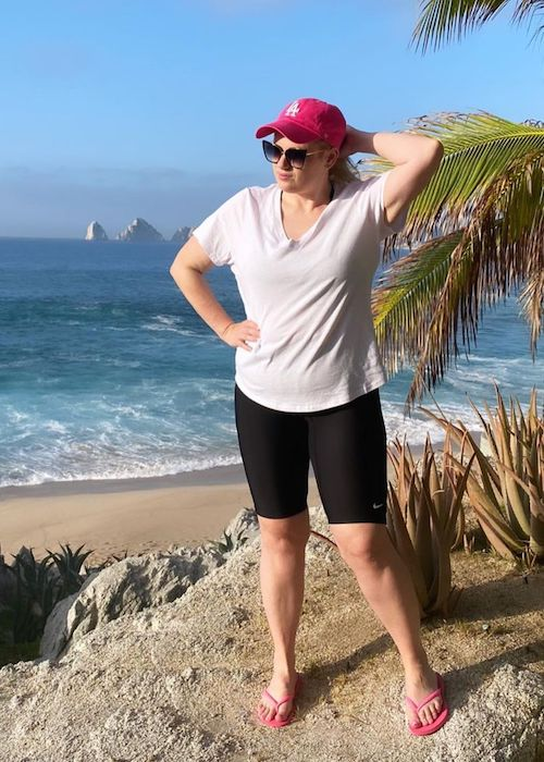 Rebel Wilson during her vacation in Mexico in 2020