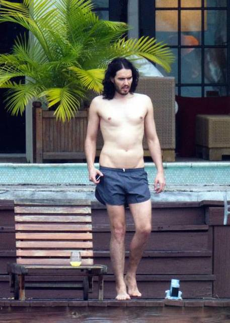 Russell Brand shirtless