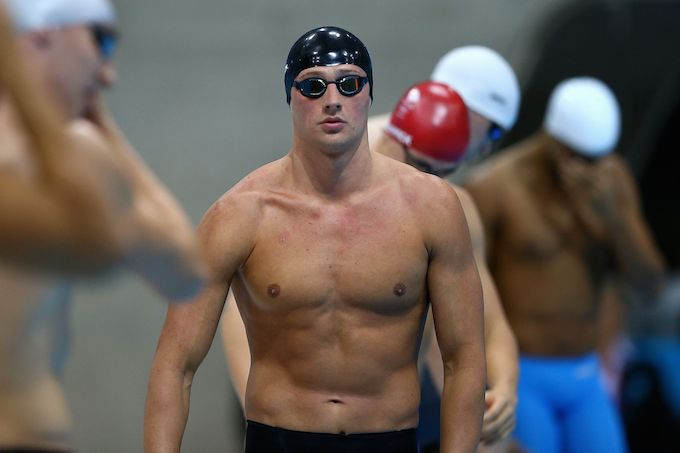 American swimmer, Ryan Lochte workout