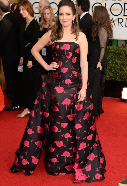 Tina Fey during Golden Globe 2014