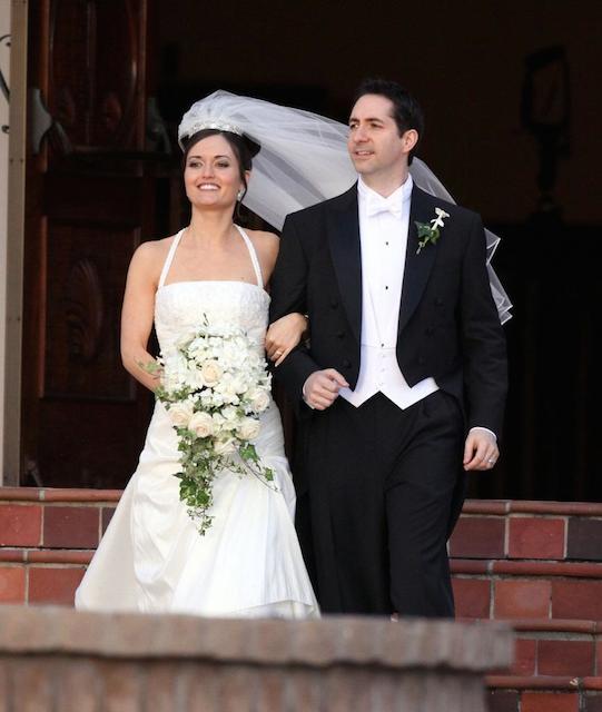 Danica McKellar and Mike Verta