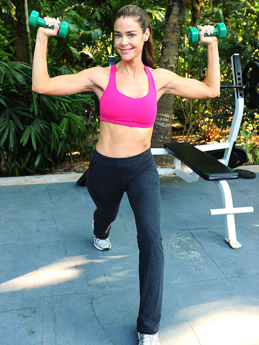 Denise Richards workout