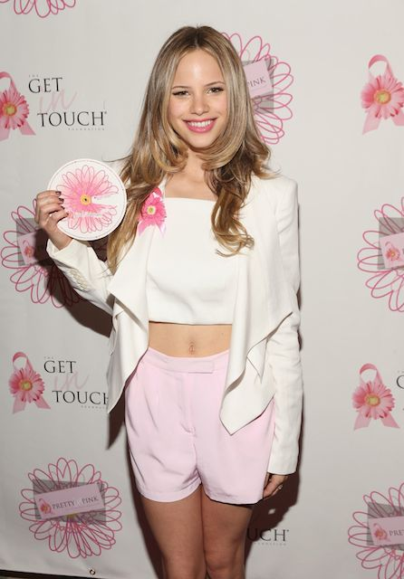 Halston Sage at Pretty in Pink Luncheon and Women of Strength Awards in March 2014