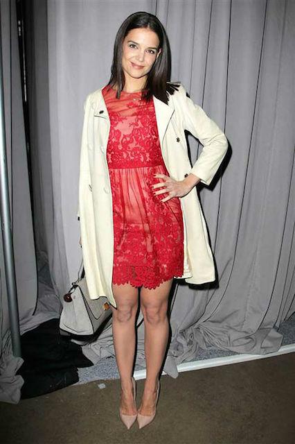 Katie Holmes at Fall 2014 Mercedes Benz Fashion Week