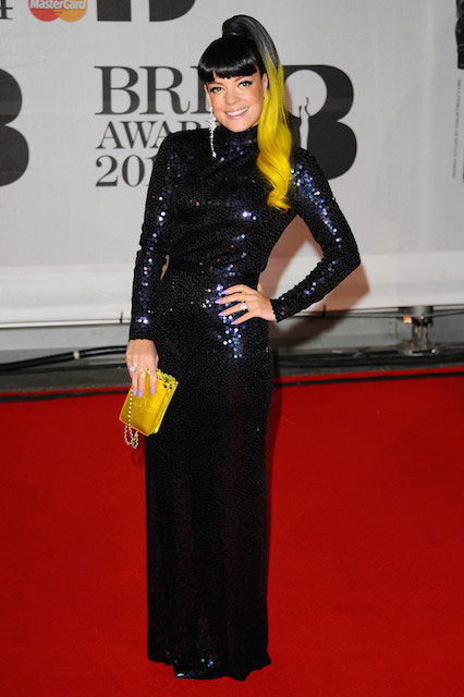 Lily Allen at 2014 BRIT Awards