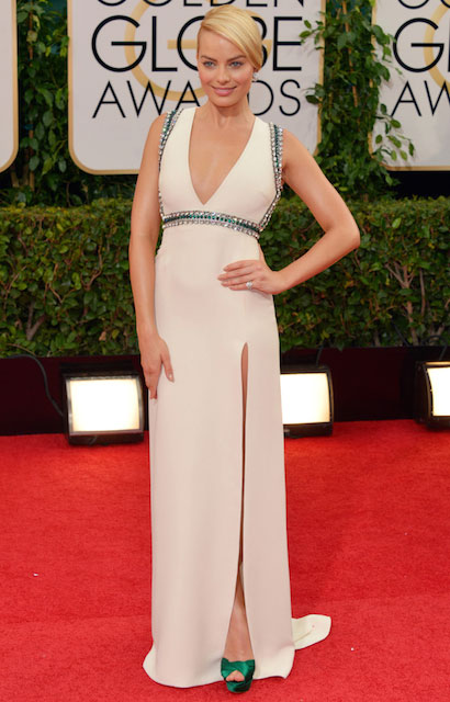 Margot Robbie during Golden Globe Awards 2014