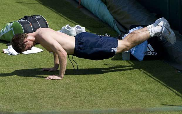 Andy Murray workout