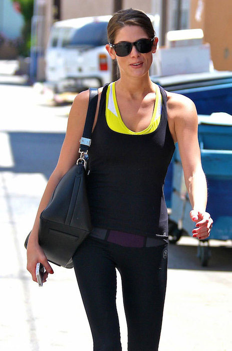 Ashley Greene in her workout gear