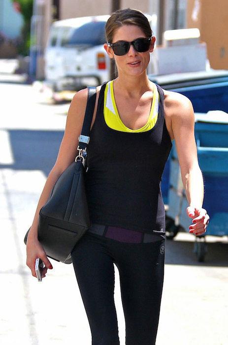 Ashley Greene in her workout gear