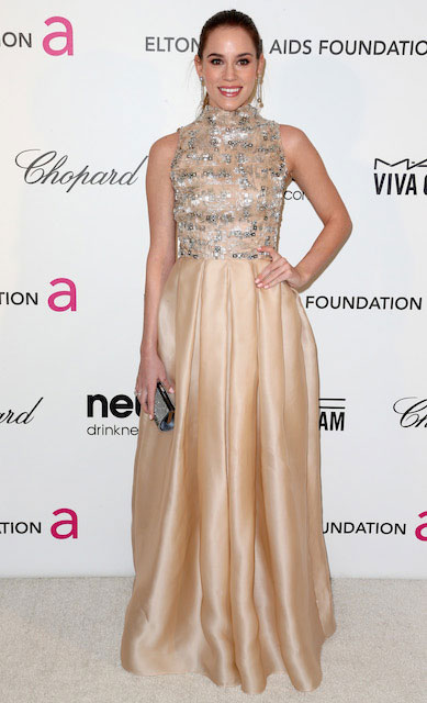 Christa B Allen at 21st Annual Elton John AIDS Foundation Academy Awards
