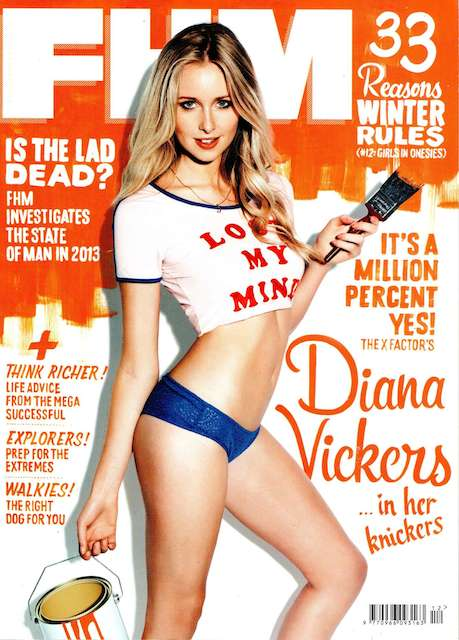 Diana Vickers posing for FHM Magazine for their December 2013 Issue
