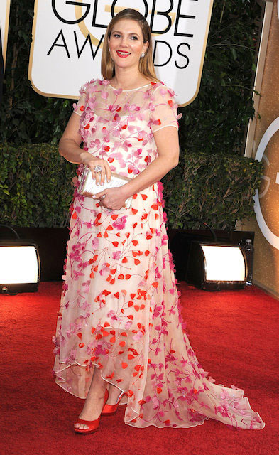 Drew Barrymore during 2014 Golden Globe Awards
