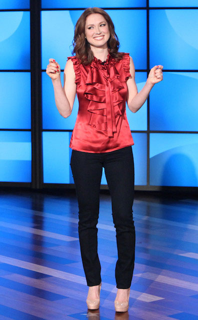 Ellie Kemper during The Ellen DeGeneres Show