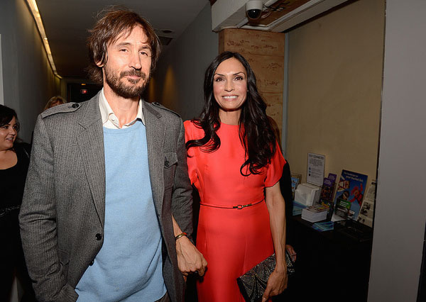 Famke Janssen and Cole Frates