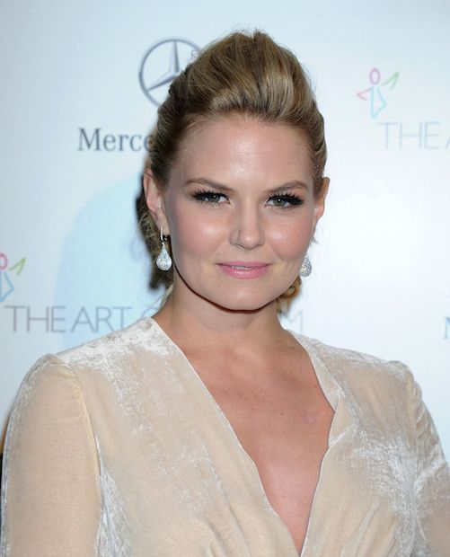 Jennifer Morrison wearing Elisabetta Franchi at Art of Elysium Heaven Gala in January 2014