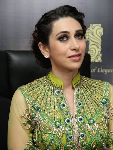 Karisma Kapoor in beautiful Light Green Anarkali Long Frock