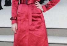 Melanie Laurent at Celebs 2013 Burberry Prorsum