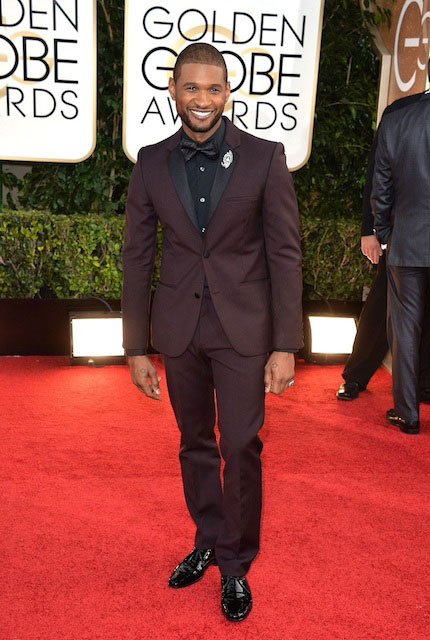 Usher at Golden Globe Awards 2014