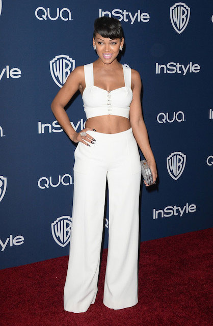 Meagan Good at 2014 InStyle Warner Bros. 71st Annual Golden Globe Awards Party