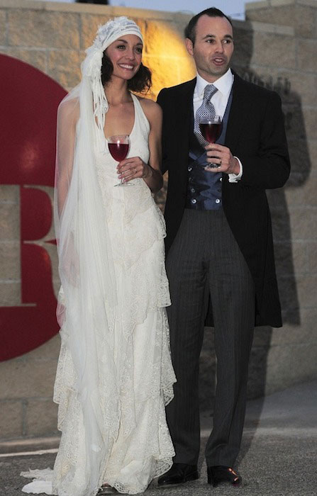 Andres Iniesta and Anna Ortiz