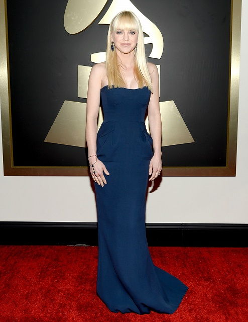 Anna Faris during 2014 Grammy Awards