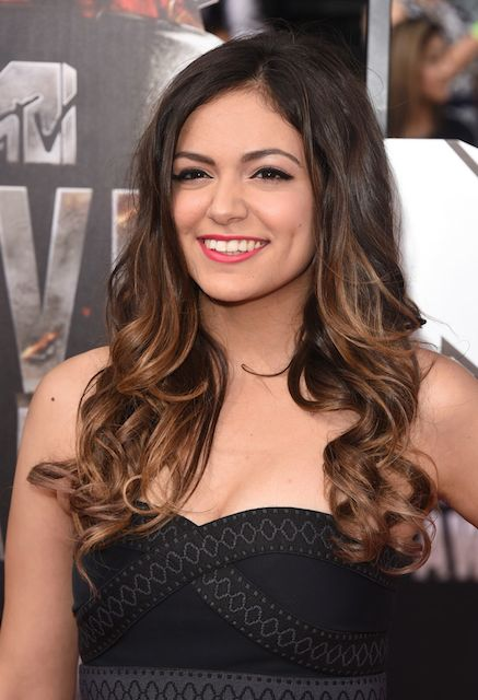 Bethany Mota on Red Carpet at 2014 MTV Movie Awards in Los Angeles