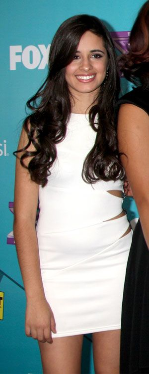 Camila Cabello of Fifth Harmony arrives at The X Factor Finalist Party at SLS Hotel on November 5, 2012 in Los Angeles, CA