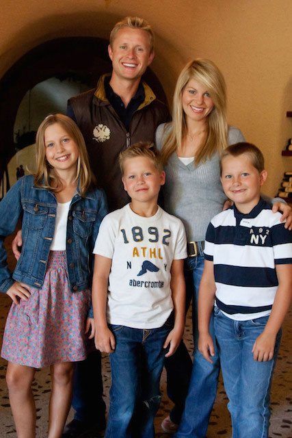 Candace Cameron Bure and Valeri Bure with family