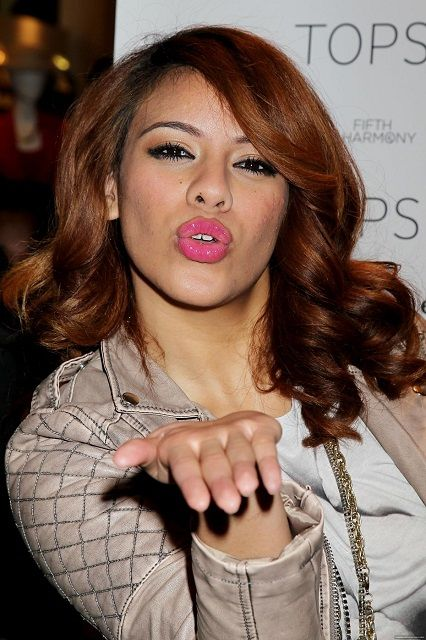 Dinah Jane Hansen giving flying kiss