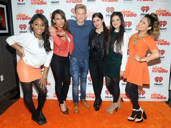 Dinah Jane Hansen (second from left ) at iHeartRadio Nick Radio Launch