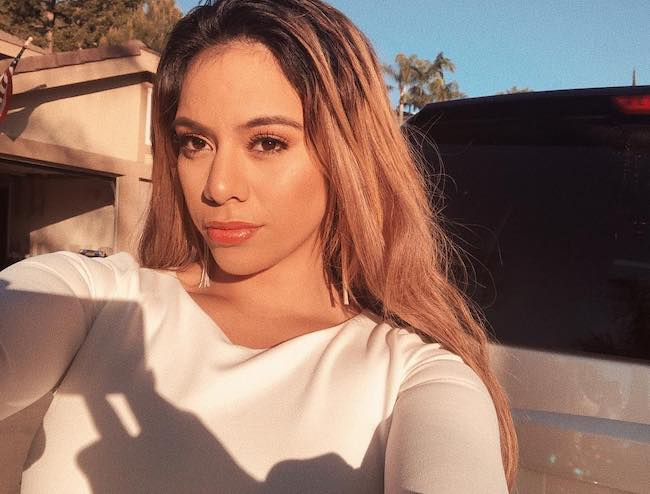 Dinah Jane Hansen in a selfie in March 2019 at Orange County, California