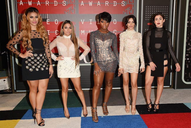 Fifth Harmony girls at MTV VMAs 2015
