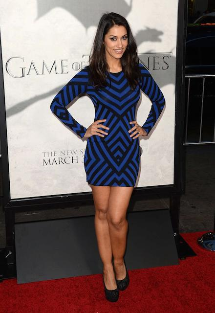 Janina Gavankar at Game of Thrones season premiere
