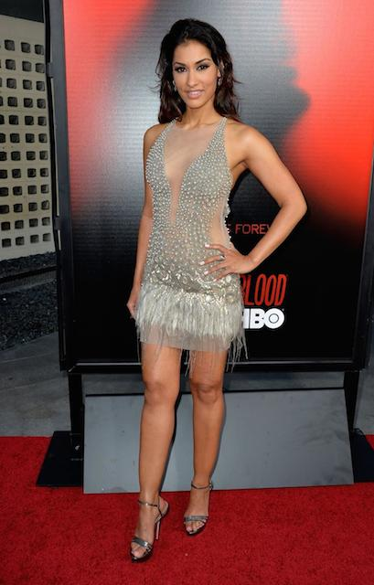 Janina Gavankar at True Blood season premiere in Los Angeles