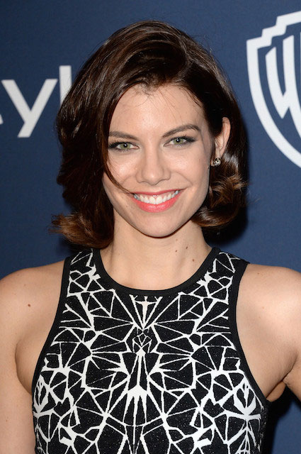 Lauren Cohan attends the 2014 InStyle and Warner Bros. 71st Annual Golden Globe Awards Post Party on January 12, 2014 in Beverly Hills, California