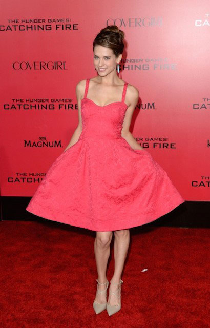 "Lyndsy Fonseca at ""The Hunger Games Catching Fire"" Hollywood Premiere"