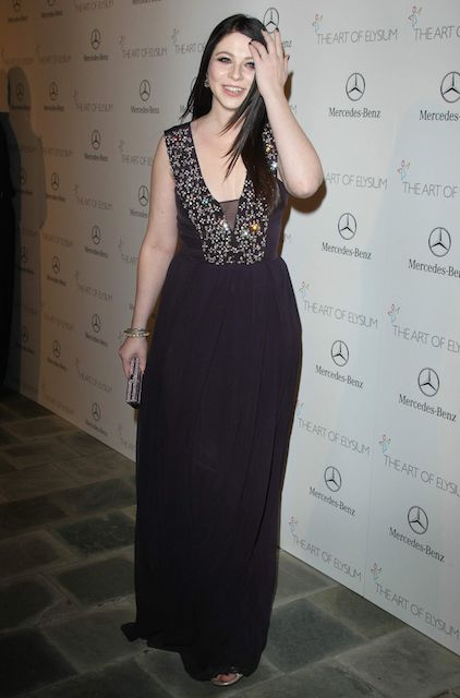 Michelle Trachtenberg wears Rebecca Taylor at the Art of Elysium Heaven Gala in January 2014