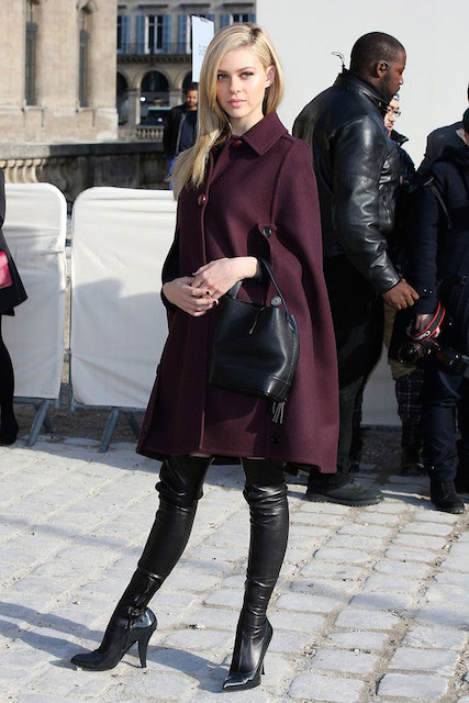 Nicola Peltz attends Louis Vuitton show as part of the Paris Fashion Week Womenswear Fall/Winter 2014-2015 on March 5, 2014 in Paris France