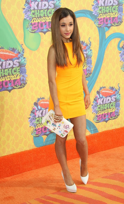 Ariana Grande al 27 ° Kids Choice Awards 2014 di Nickelodeon