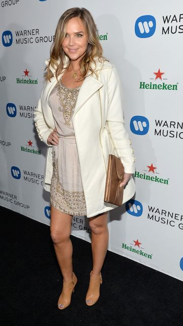 Arielle Kebbel at Warner Music Group Annual Grammy Celebration at Los Angeles in January 2014