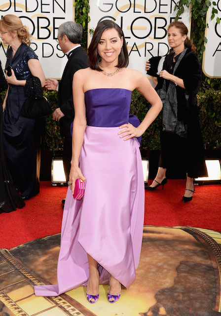 Aubrey Plaza at 2014 Golden Globe Awards