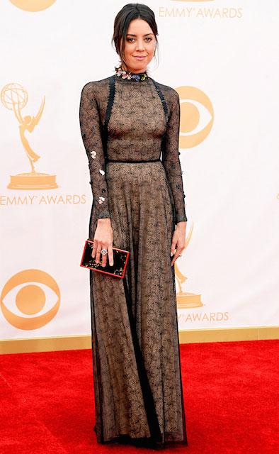 Aubrey Plaza at 65th Annual Emmy Awards