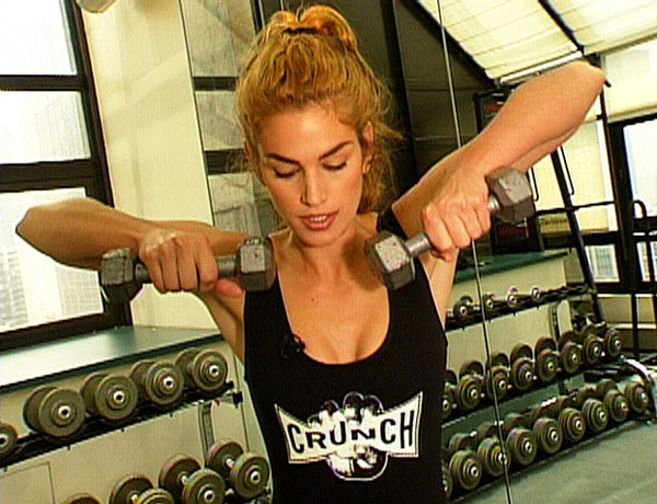 Cindy Crawford weight training