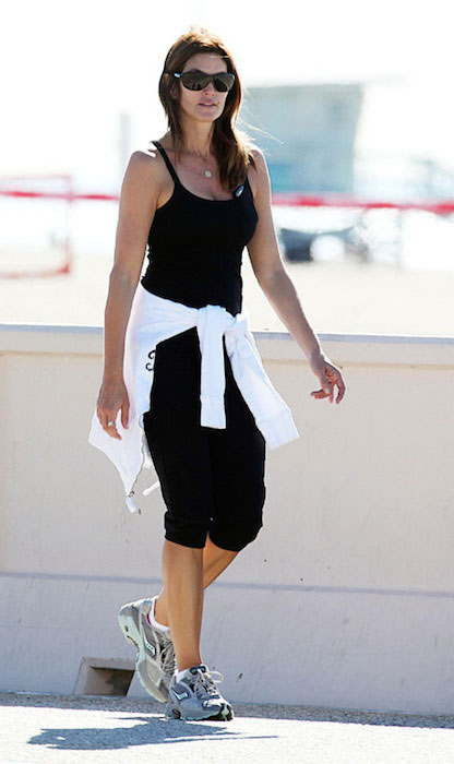 Cindy Crawford in her workout gear