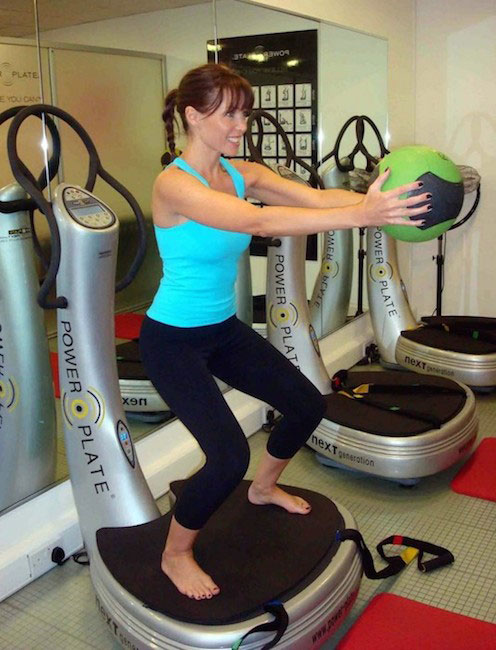 Dannii Minogue power plate workout