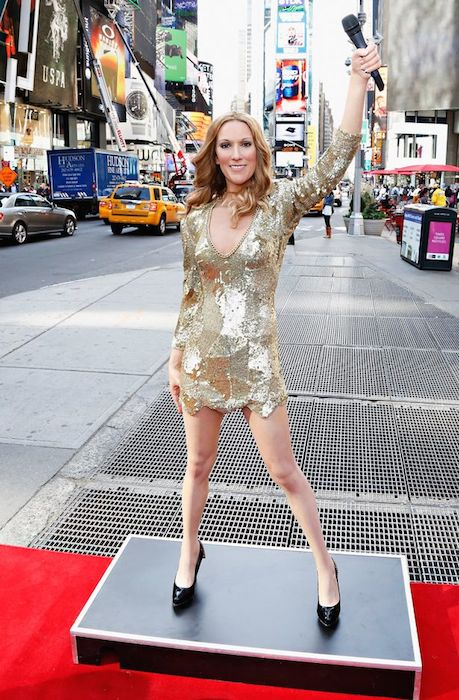Madame Tussauds wax figure of singer Celine Dion at New York