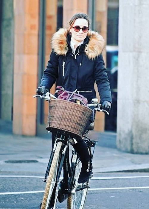 Pippa Middleton cycling in London