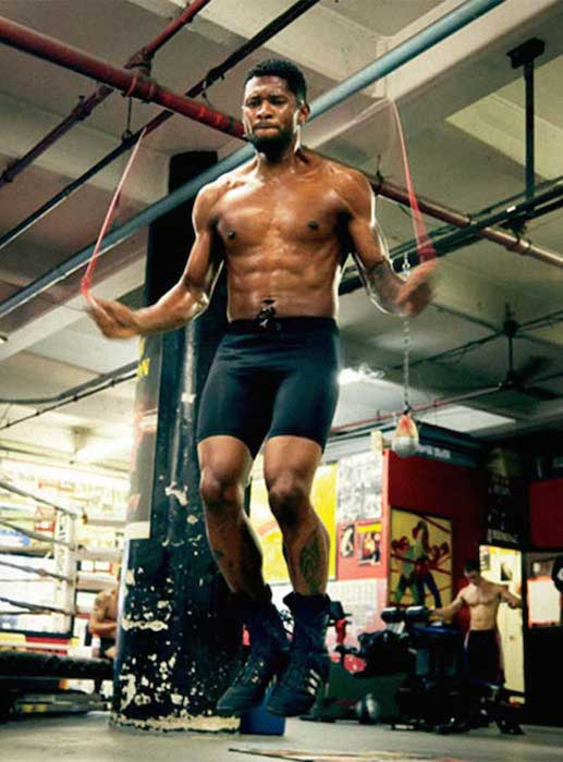 Usher skipping the rope
